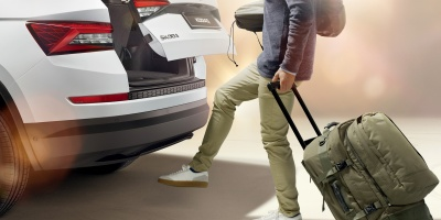 Virtual Pedal -sensor controlled luggage comartment opener